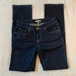 CAbi Blue Denim Straight Leg Jeans Size 4